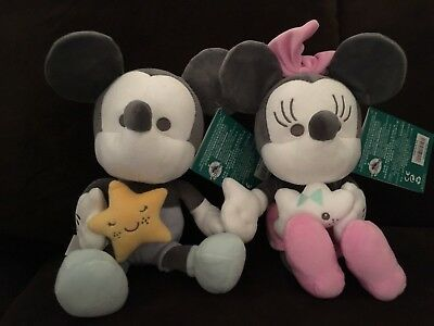 """DISNEY STORE Mickey and Minnie Mouse plush baby 9"""""""