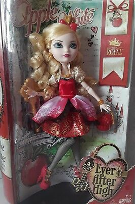 Apple White Core royal Ever After High Doll new in box, box slightly dented