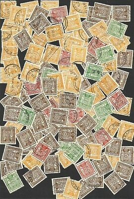 B2/b45- BULK LOT of  UNSORTED  NEW ZEALAND ARMS STAMPS POSTAL USED as scan