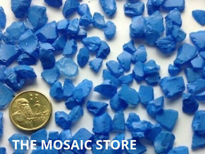 Blue Tumbled Glass Pieces - Mosaic Tie Art & Craft Supplies