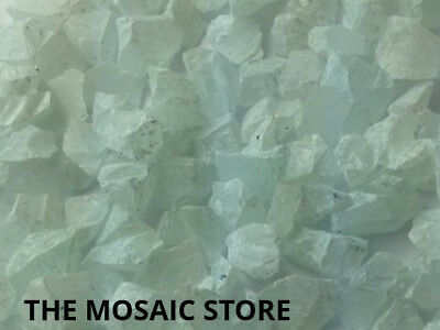 White Tumbled Glass Pieces - Mosaic Art & Craft Supplies
