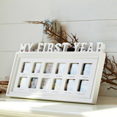Baby Photo Frame My First Year Newborn 12 Months Photo Baby Memories Photo Frame
