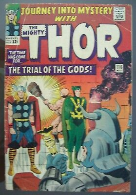 Journey Into Mystery With THOR # 116 (1965) Good Minus Condition
