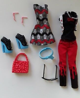 Monster High Dolls Fashion Packs Ghoulia YelpsDeluxe G! Excellent Used Condition