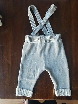 Seed Baby Boy Knitted Grey Pants Trousers 6-12 months