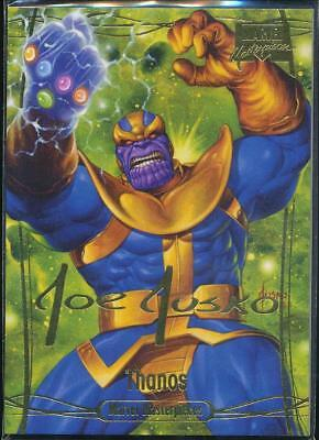 2016 Marvel Masterpieces Gold Signature Trading Card #64 Thanos /999