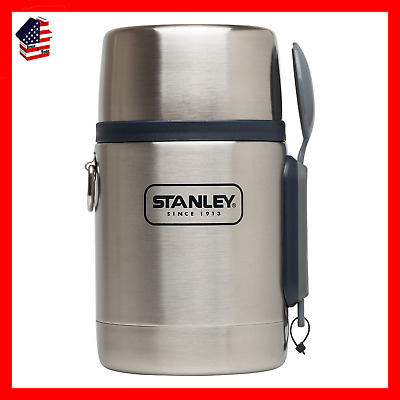 Stanley Adventure Vacuum Insulated Food Jar Stainless/Navy 18 Oz