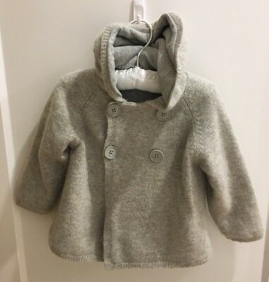 Country Road Baby Jacket, Size 1 (12 -18 Months), Wool Blend, Grey