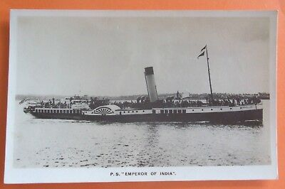 PADDLE STEAMER RP Postcard c.1930 P.S. EMPRESS OF INDIA