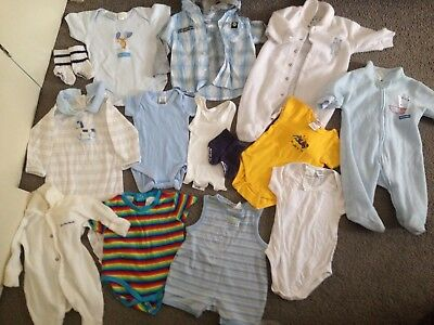 Baby Size 000 Clothing (Summer & Winter Bodysuits, Tops Etc) P/U 3129
