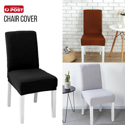 AU 2/6/8pcs Fit Dining Chair Covers Stretch Cover Protector Slipcover Washable