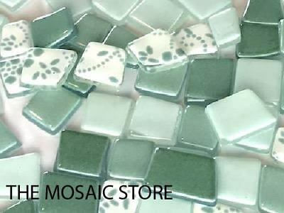 Light Green Irregular Patchwork Glass Tiles