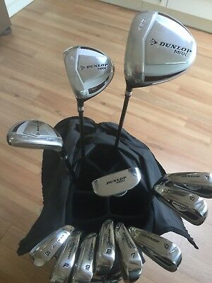 Perfect Mens Left Hand Dunlop Max Graphite Full Golf Clubs Set Irons Woods Bag