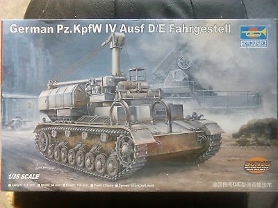 Trumpeter German Pz.KpfW IV Ausf D/E Fahrgestell 1/35 New In Box