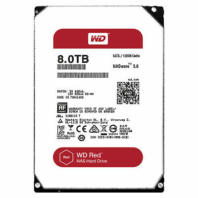 "Western Digital WD Red 8 TB Internal 5400 RPM 3.5"" Hard Drive -WD80EFZX NAS (Net"