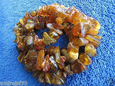 Natural Baltic amber 57 gr  carved beads Necklace 琥珀 Jewelry Vintage Fine