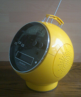 Retro Yellow PrinzSound Space Helmet Stereo Module SM8 AM/FM-MPX/8 Track Player
