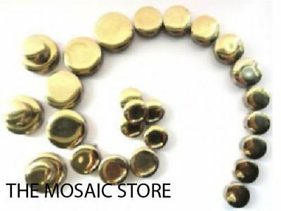 Gold Ceramic Discs / Circles / Round Mosaic Tiles - Supplies Art Craft