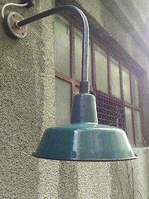 Alte Industrie Emaille Wandlampe, Fabrikampe,emaillampe