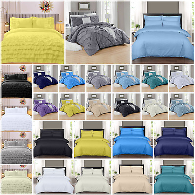400 Thread Count 100% Egyptian Cotton Duvet/quilt Cover Bedding Set Single Doubl