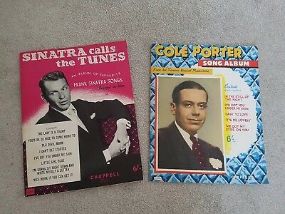 Frank Sinatra & Cole Porter 1937 vintage piano sheet music books great condition