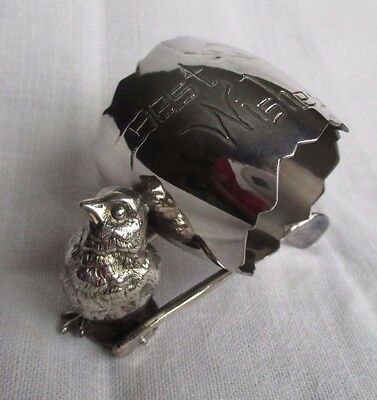 Derby Silver Co. #335 Chick Wishbone Silverplate Figural Napkin Ring Lot #2