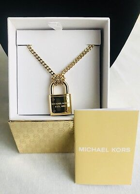 b29956cdbf2d9 MICHAEL KORS LONG Pendant Gold-tone Clear Triangle Brilliance ...