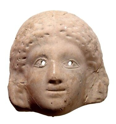 Terracotta Greek mask of a woman 3rd - 2nd Century BC