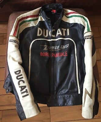 Dainese Ducati Meccanica Leather Motorcycle Jacket. Rare retro. Collectible.