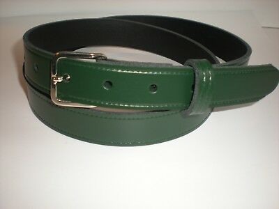 25mm Slight second Green leather belts S to X large sizes  £2.99 T2N