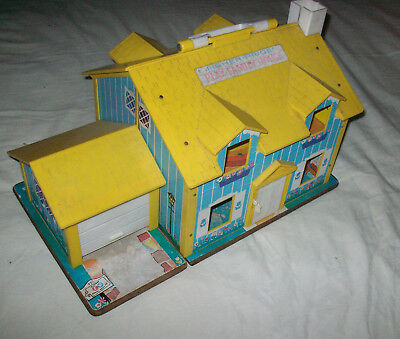 Vintage 60er Jahre Fisher Price Play Family House Haus Puppenhaus