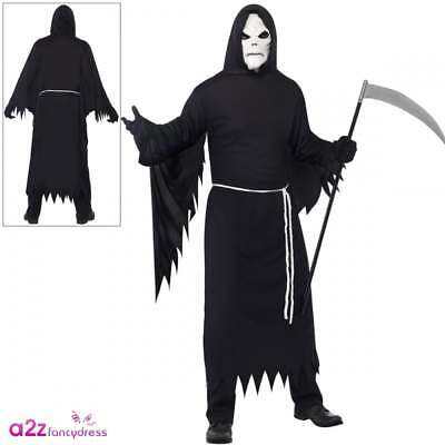 "Da Uomo Costume da tristo mietitore Extra Large UK 46/"" per Halloween Fancy Dress-NUOVO"
