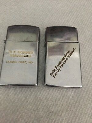 Vintage Zippo Slim Lighter Lot Of 2