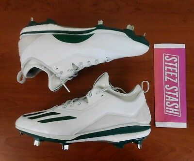 395b6d742fc3 Adidas Energy Boost Icon 2.0 Metal Baseball Cleats White Green Size 12  Q16533