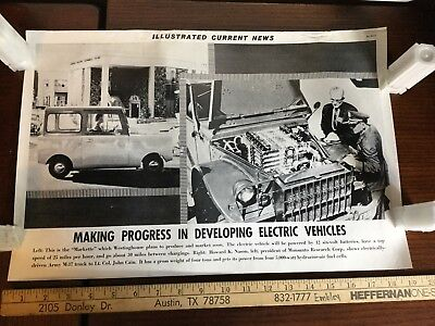 Illustrated Current News Photo - Vintage Electric Car Vehicle Westinghouse Army
