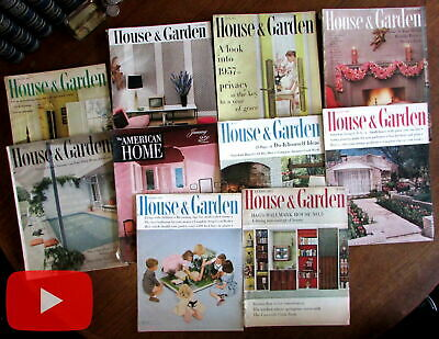 Home Decorating of 1950's House & Garden magazine x 10 issues Conde Nast