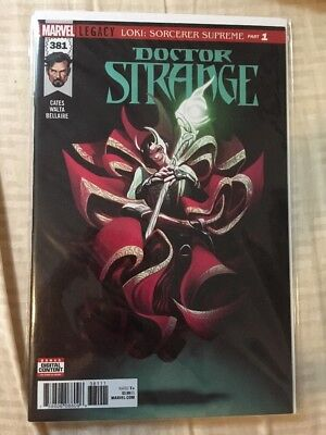 Doctor Strange 381 Cates Legacy Loki Part 1 Marvel Comics First Print Cover A Dr