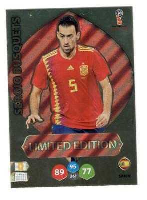 Limited Edition footballers from Spain RARE Adrenalyn 2018 World Cup Russia