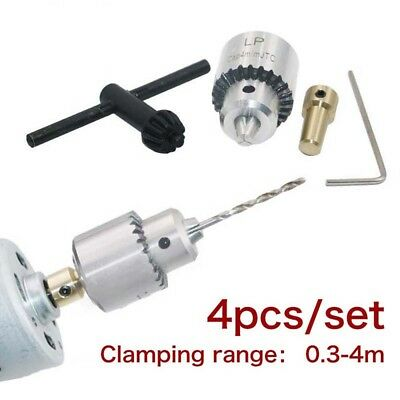 """4pcs/set Clamp W/ Key JT0 Connection Rod Clamping 0.3-4mm 3.17mm 1/8"""" Shaft"""