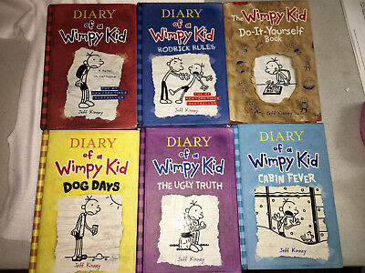 Diary of a wimpy kid book series set lot 6 total free shipping diary of a wimpy kid lot set of 6 1 2 4 5 6 solutioingenieria Choice Image