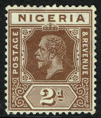 SG 20a NIGERIA 1932 – 2d CHOCOLATE  (die I) – UNUSED
