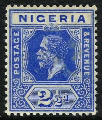 Sg 4 Nigeria 1914 – Twopencehalfpenny Bright Blue – Mounted Mint