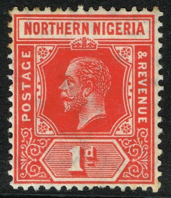 SG 41 NORTHERN NIGERIA 1912 – 1d RED – MOUNTED MINT