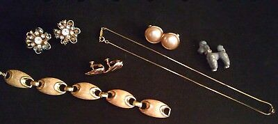 6 piece ESTATE lot of VINTAGE Napier earrings necklace brooch