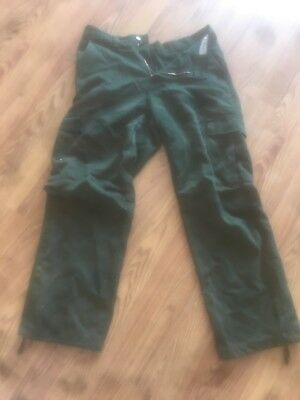 wild fire pants, nomex, forest service green, size 28-32-30