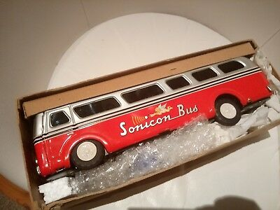 Sonicon Bus Autobus Robot Space Vintage Tin toy Japan. voll function fähig!!!...