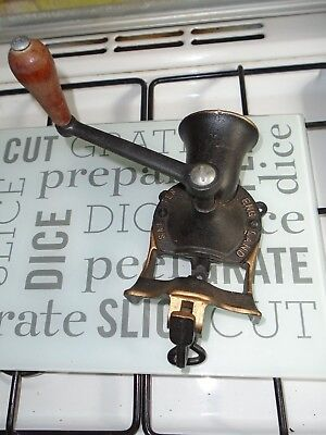 Vintage Cast Iron Spong No 1 , Wall Mounted Coffee Grinder Mill