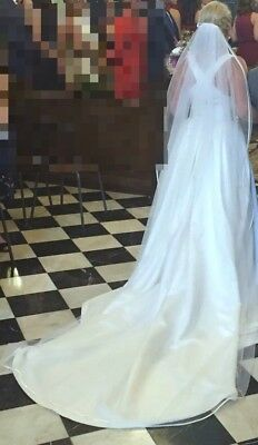 Long White Wedding Veil Cathedral Length