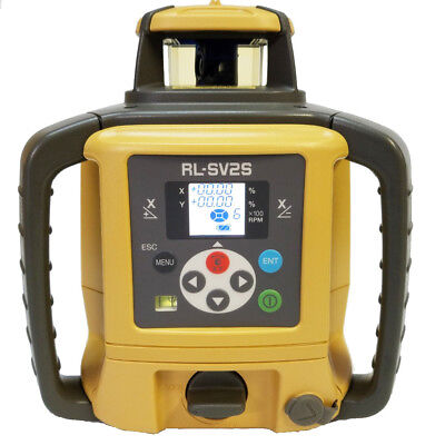 Topcon RL-SV2S RB Dual Slope Self-Leveling Rotary Laser Level Rechargeable Model