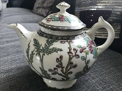 Coalport Indian Tree Scalloped Teapot w/ lid 1920's Great Condition.